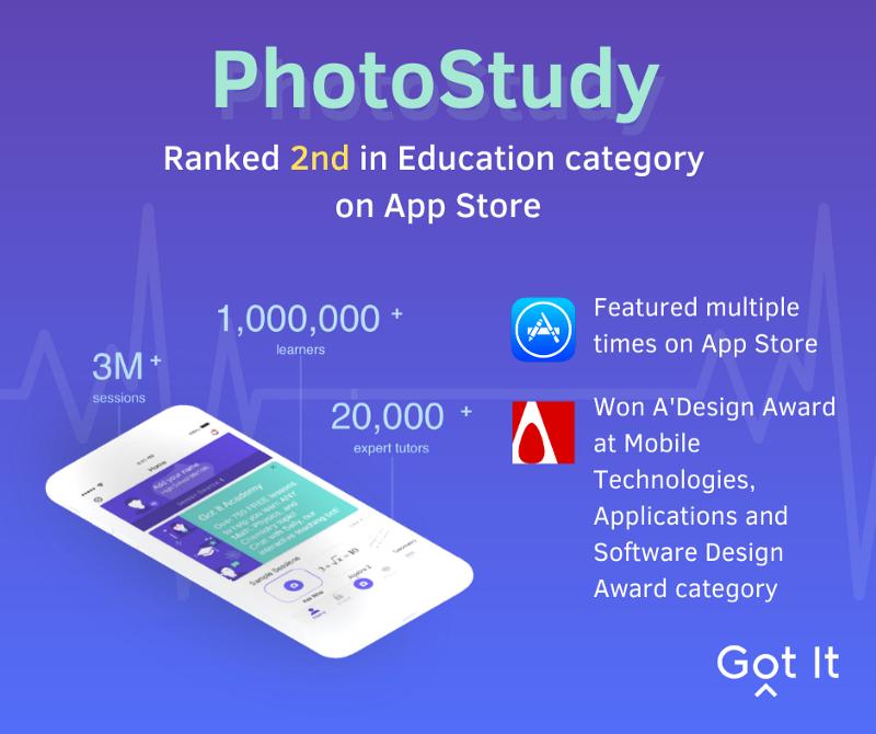 PhotoStudy—Sản phẩm từng đứng thứ 2 App Store Mỹ mảng Giáo dục có gì đặc biệt?