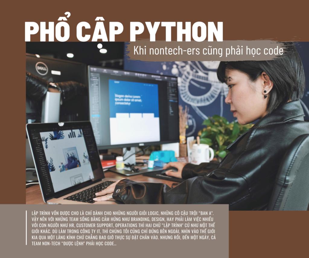 Phổ cập Python: Khi HR, CS, Design, Branding… cũng phải học code