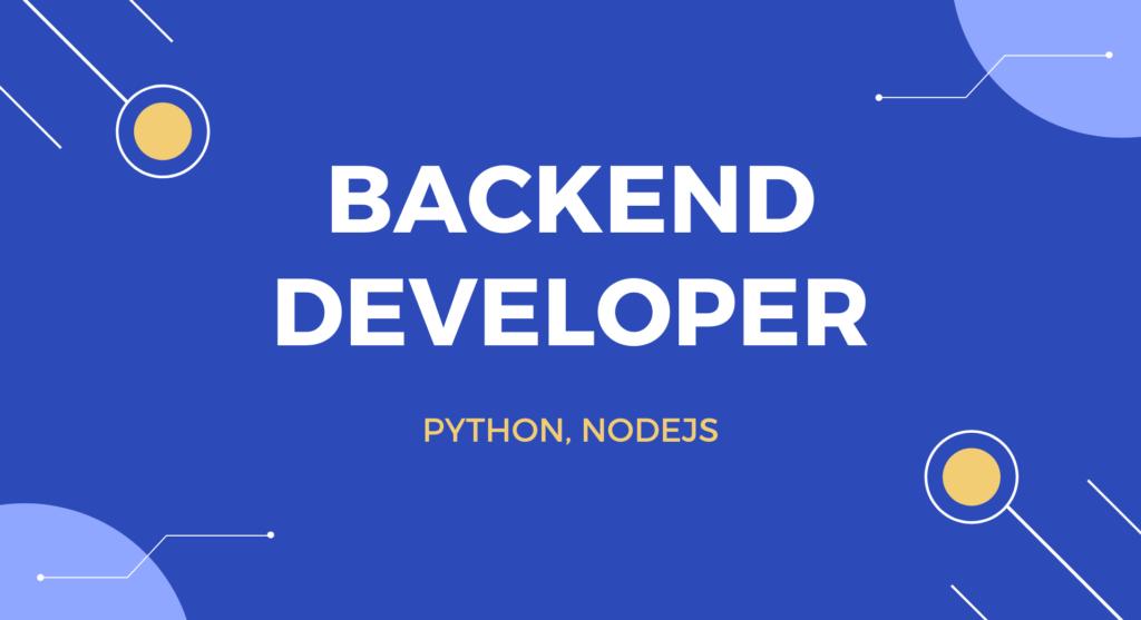 Tuyển dụng Backend Developer (Python, NodeJS)